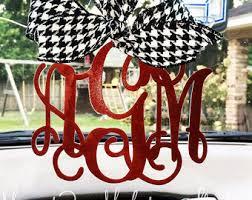 monogram charm rear view mirror charm rearview mirror monogram rearview mirror
