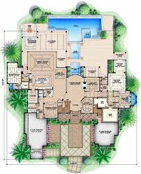 5 bedroom floor plans 2 florida style house plans 8899 square home 2 5