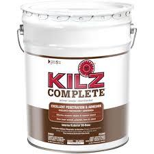 kilz complete 5 gal white oil based interior exterior primer