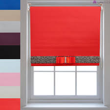 blackout roller blinds decorative glitter fabric u0026 bow quality
