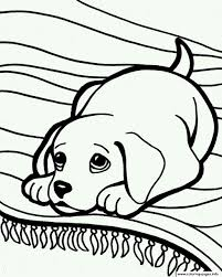cute sleepy dog 6ea7 coloring pages printable