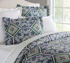 Pottery Barn Alessandra Duvet Soleil Duvet Cover Sham Pottery Barn Blue King Light Full
