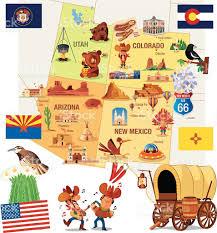 Aspen Colorado Map by Cartoon Map Of Usa Stock Vector Art 472377703 Istock