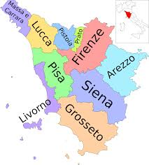 Italy Map With Cities File Map Of Region Of Tuscany Italy With Provinces It Svg