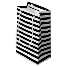black and white striped gift bags black and white stripes small gift bag from zazzle gift wrap