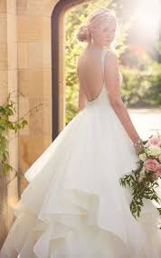 backless wedding gowns backless ballgown wedding dress i essense