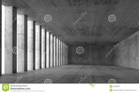 interior concrete walls empty interior and concrete walls and columns 3d stock