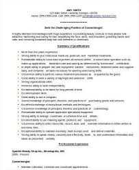 cosmetology sample resume cosmetologist resume example