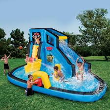 inflatable water slide blast adventure kids park large banzai