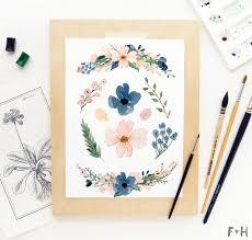 free flowers free beautiful watercolor flowers blush navy fox hazel