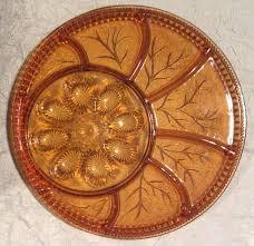 deviled egg serving platter vintage indiana glass relish snack tray deviled egg