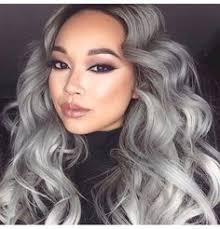 grey hairstyles for younger women granny hair grey gray dyeing dying trend young women girls gray
