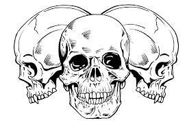 small simple skull easy skull tat small simple chainimage