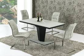 Glass Dining Table And 6 Chairs Extendable Glass Dining Table And 6 Chairs