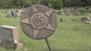 Grave Marker Flags Hundreds Of Bronze Flag Holders Stolen From The Graves Of Veterans