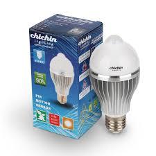 best led motion sensor light chichinlighting 8 w e26 e27 warm white led motion sensor light bulb