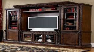 ashley living room wall units tv entertainment center viewing