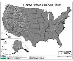 us relief map united states shaded relief nrcs