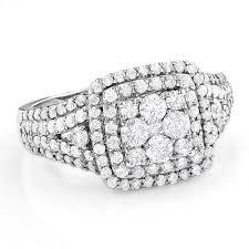cluster rings engagement rings 14k gold diamond cluster ring 1 8ct