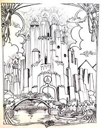 city atlantide myths u0026 legends coloring pages for adults