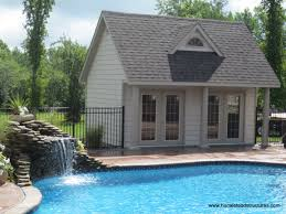 architecture wonderful small pool houses with rustic wooden 10x20