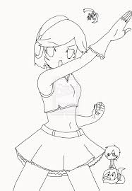 vocaloid meiko coloring pages sketch coloring page
