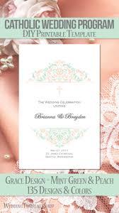 104 best catholic wedding programs diy printable order of service