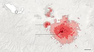 New Mexico On Map Buildings Across Mexico City That Toppled In The Earthquake The