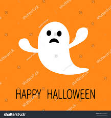 funny flying ghost sad face happy stock vector 472952803