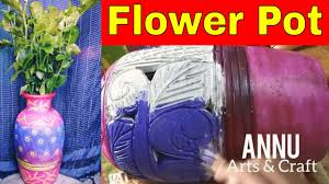decorate flower pot at home with fabric colour amazing designs