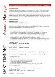 account manager resume account manager resume exle exles of resumes
