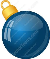 solid blue christmas tree ball ornament cartoon clipart vector toons
