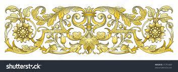 gold ornament border vector stock vector 71791483