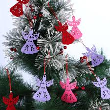 online shop 5pcs lot non woven fabric christmas angel hollow