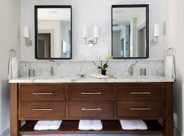 Backsplash In Bathroom Contemporary Bathroom Vanity With Marble Top Backsplash