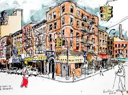 new york city urban sketchers testing a plein air setup for large