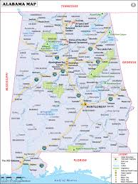 Map Of Tennessee And Georgia by Alabama Map Map Of Alabama Al Usa