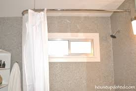 l shaped shower curtain rod without ceiling support with in