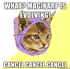 Magikarp Meme - what magikarp is evolving cat meme cat planet cat planet