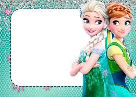 convite frozen 2 clip art cards