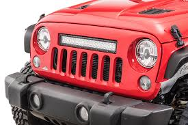 jeep light bar cliffride 19004 holcolm grill with led light bar for 07 18 jeep