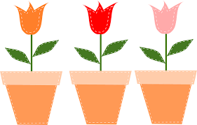 Flower Pots - tulips free vector graphics on pixabay