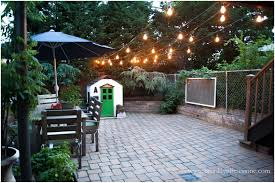 backyards ergonomic backyard lights on fence turtles and tails