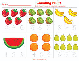 counting fruits preschool math worksheet from abcpreschoolbox com