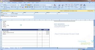 excel invoice template latest version 2017 free download