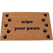 Wipe Your Paws Coir Doormat Birdrock Home Wipe Your Paw Coir Doormat Walmart Com