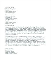 resignation letter due to pregnancy template 6 free word pdf