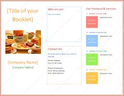 booklet word template bookletemplate org