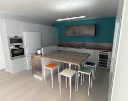 quelle couleur peinture pour cuisine cuisine blanche mur vert