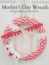 s day wreath s day doily wreath s day craft challenge